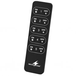 Wireless remote control, for controlling unicoloured LED strips