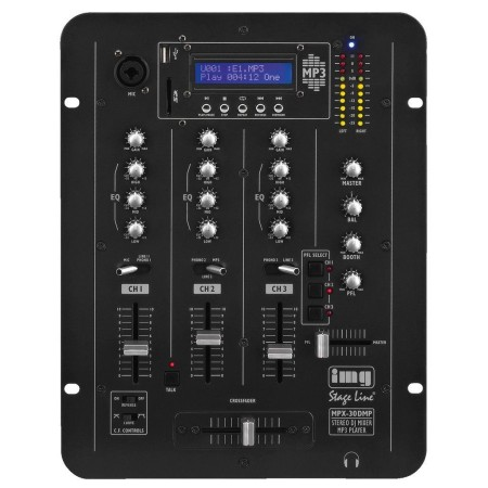 IMG -Stage Line | Monacor Stereo DJ mixer with integrated MP3 player