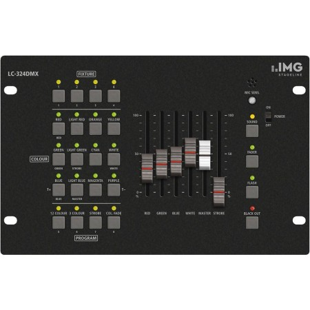 LED DMX controller LC-324DMX, for controlling all standard 3-channel to 8-channel LED spotlight