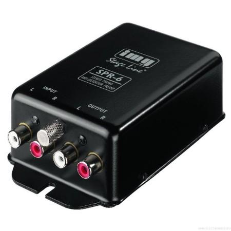 Stereo phono anti-vervorming voorversterker acc. naar RIAA-SPR-6