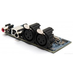 Audio input board card adds two XLR balanced inputs and two RCA connectors plus USB audio input