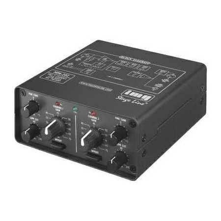 IMG-Stage Line MPA-202 2-channel microfoon voorversterker