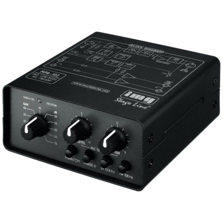 IMG-Stage Line MPA-102 1-channel microfoon voorversterker