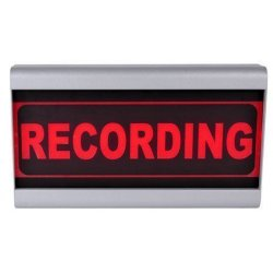 D&R Studio Sign Recording light  Mono Face