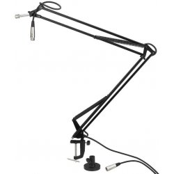 Swivel arm microphone stand, for mounting onto a desk Home studio and Broadcast Studio
