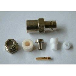 BNC-Female Soldeer connector Clamp RG 58 (10 stuks)