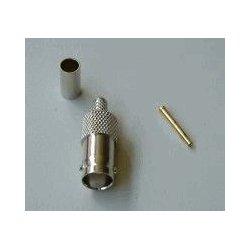 BNC-Female Crimp connector RG 58 (10 stuks )