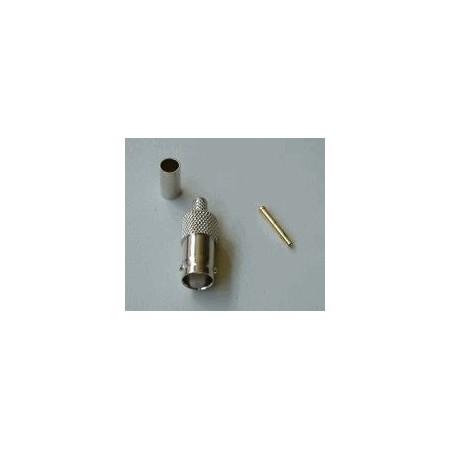 BNC-Female Crimp connector. RG 58 (10 stuks )