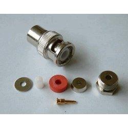BNC-Male Soldeer connector. Clamp RG 174 (10 stuks)