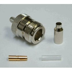 N-Connector Female Crimp voor RG174 ( 10 stuks)