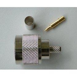 N-Connector Male Crimp voor RG58 (10 pieces)