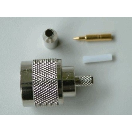 N-Connector Male Crimp voor RG174 (10 stuks)
