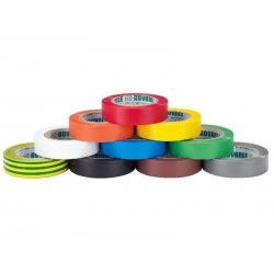 Soft PVC electrical insulating tape set 10 rolls