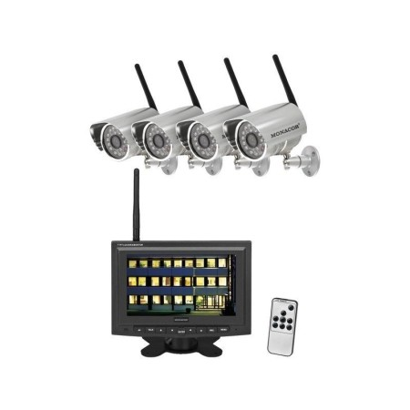 Wireless digital surveillance set, 2.4 GHz, 10 mW, Rec. function