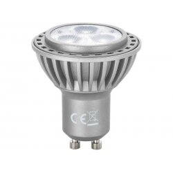 Extra bright LED reflector lamp, GU10, 230 V˜/5 W, LDR-105/WS