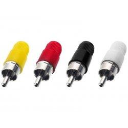 T-700G / GE RCA pluggen Rood | Wit | Zwart | Geel (10 stuks)