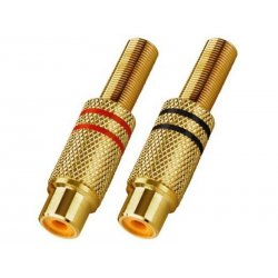 T-707JGLC RCA Plug-In In-line Connectors gold-plated body
