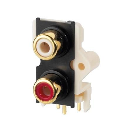 RCA panel print jacks Gold-plated contact T-720G (10 stuks)