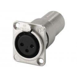 NEUTRIK XLR feed-through panel connectors, 3 poles NA-3FDM
