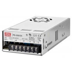 Mean Well 24 V built-in PSU 8.3 A PS-200/24