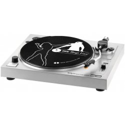 Stereo hi-fi turntable with USB port and integrated phono preamplifier