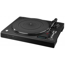 Stereo hi-fi turntable with USB port, SD card slot and integrated phono preamplifier