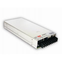Mean Well SP-480-24 specifications: AC-DC Enclosed power supply Output 24Vdc at 20A  PFC, forced air cooling