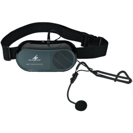 Waistband amplifier with line input. Supplied with a high-sensitivity electret headband microphone