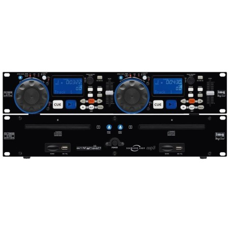 IMG-Stage Line DJ dual CD and MP3 playerUSB 2.0 interface and SD/MMC card slot