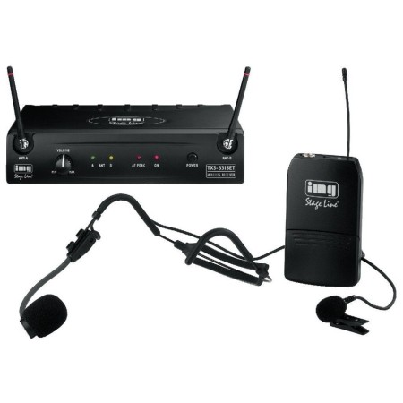 Multifrequency microphone system, with UHF PLL technology | Licence free