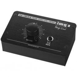 Passive stereo level control (XLR version), for a precise volume control of line signals