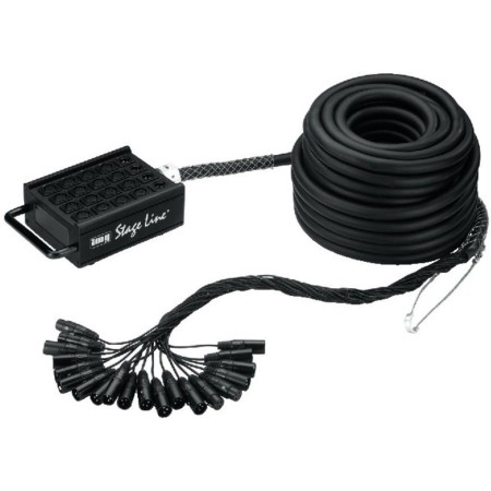 Stage Box Multipaired Cable with aluminium strain relief and cable bending protection